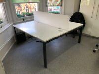Astro Double / 2 Person White Desks (2 available)
