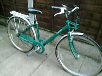 RETRO RALEIGH CAPRICE 3 SPEED, TOWN BIKE, ,700 ALLOY WHEELS, NEW TYRES