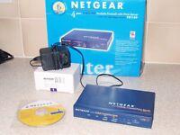 NETGEAR FR114P Cable/DSL 4 Port ProSafe Firewall Router,Print Server, PSU