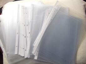 Extra large & extra strong 'clear' plastic punched pockets