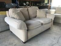 John Lewis Cream 2 Seater sofa and chair