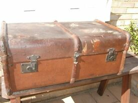 Old Travelling Trunk. Possibly 80+ years old.