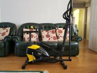 Cross trainer/bike exercise machine