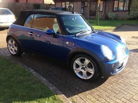 Mini Cooper 1.6 Convertible (Electric Blue) 73K
