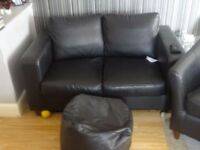 Tub chairs x2 and two seaters x2 (black)