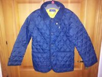 Padded navy jacket for boy or girl Age 8