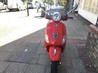 PIAGGIO VESPA LX 125cc IE 3V DRAGON RED STUNNING 2014 LOW MIELAGE HPI CLEAR!!