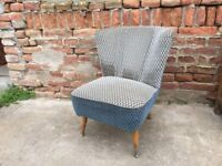 Beautiful BARTHOLOMEW Chair 1950s Mid Century Cocktail Seat Comfy Iconic