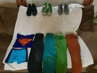 Boys Clothes and shoe bundle 6-7 and 12-13. Tom's. Clarks. H&m