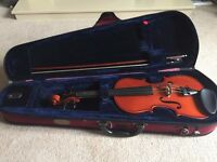 1/2 Violin with Case, Bow and Rosin