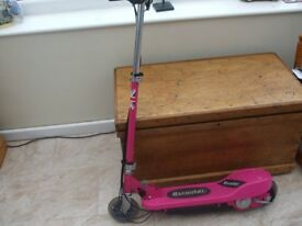 Girls Pink Electric Scooter.