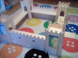 Large Wooden Toy Castle and figures