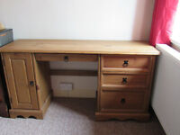 Solid Pine Office Desk / Dressing Table