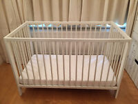 White Ikea Baby Cot in very good condition.
