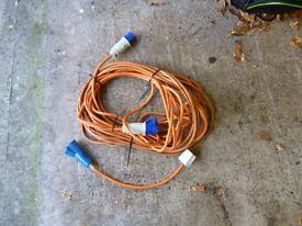 Caravan/motorhome mains hook up lead and 13 amp lead