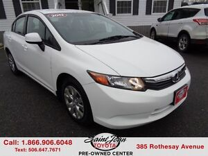 2012 Honda Civic LX $127.04 BI WEEKLY!!!