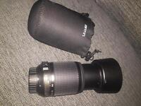 Nikon F Mount 55-200mm VR lens with uv filter and case