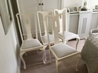 Very elegant Dining chairs (4) chalk painted