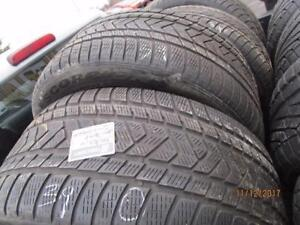295/45R20 SET OF 4 USED PIRELLI SNOW TIRES
