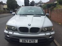 Great condition silver BMW X5. Year 2000