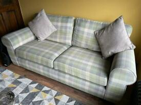 Next - Green tartan large 2 seater sofa.