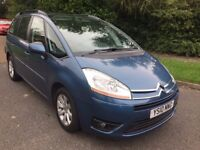 Citroen Grand C4 Picasso 1.6HDI VTR+ 10 REG 7 SEATER IN MIAMI BLUE WITH FULL SERVICE HISTORY