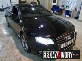 Audi A5 2.0 TDI S LINE 2dr [Start Stop] + BLACK LEATHER + SATNAV + FULLY SERVICED (black) 2010
