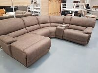 Brand New Large Corner Sofa. Comes In Brown As Pictured, Charcoal, Grey & Tan. Comes As 3+2+1 Also
