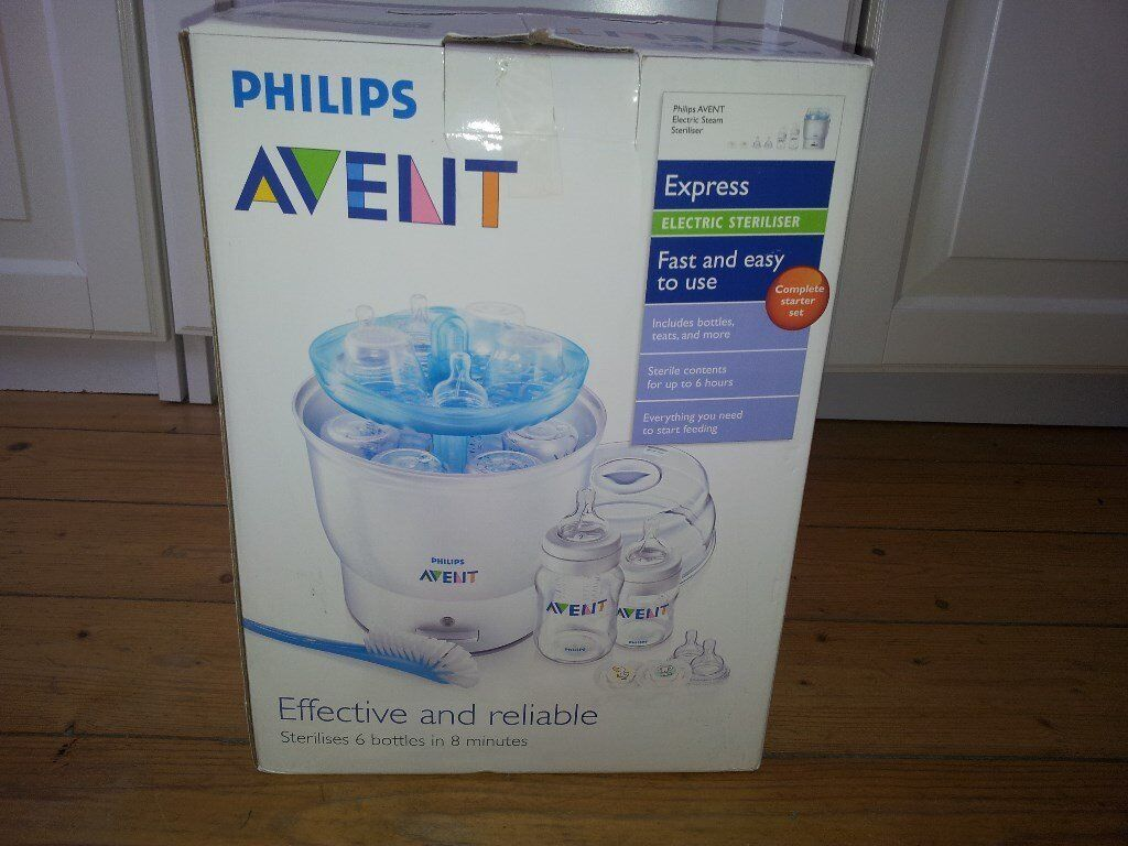Philips Avent Steriliser & FREE boxes of baby bottles