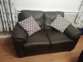 2 X 2 seater Leather Lounge suites