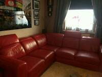 corner sofa red for sale £500