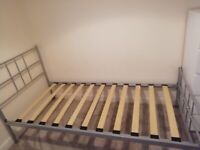 Single bed frame with mattress if required