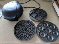 VonShef 3 in 1 waffle/doughnut/brownie maker, brand new