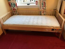2 Ikea Toddler beds with guard rails and mattresses