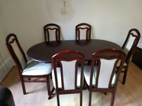 Dining table with 6 chairs to sell