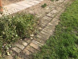 Buff bricks. Ideal for patio / garden path.
