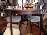 Antique table and & Chairs