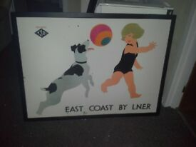 posters, pictures art in frame lnr railway rare