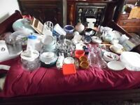 Huge Bundle joblot Of Kitchen Ware & Accessories Food Mixer Pyrex Tea Set All Thats Pictured