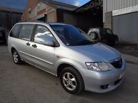 2003 MAZDA MPV 2.3 5 DOOR HATCHBACK SILVER 7 SEATER
