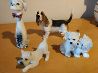 Collectable West Highland Terriers, Basset Hound Dog Ornaments