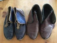 Two handcrafted leather shoes size 9-10