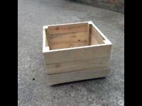 Reclaimed wooden planter