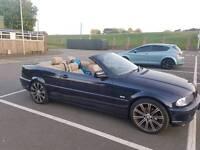 Bmw e46 318ci convertible 52reg 124k