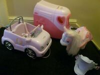 Baby Born bundle - horse, jeep & horsebox, quad and scooter. BARGAIN!!