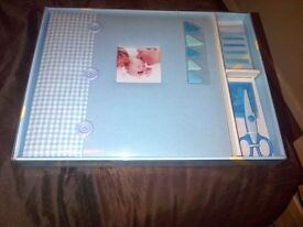 New Blue for a for baby boy scrap book kit post inc