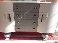 BEAUTILITY SHABBY CHIC 1920'S ART DECO SIDEBOARD.