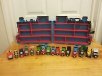 THOMAS THE TANK 3D CARRY CASE FULL OF DIECAST TRAINS IN LOVELY CONDITION.