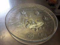 Glass Christmas Plate