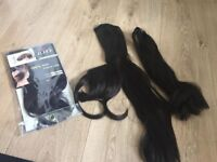 Synthetic hair bangs, inc free Remy hair extensions